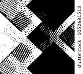 grunge halftone black and white ... | Shutterstock .eps vector #1052681513