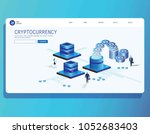 bitcoin  cryptocurrency and... | Shutterstock .eps vector #1052683403