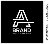 letter a on black background. ... | Shutterstock .eps vector #1052686523