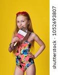 fashion sunny photo in studio... | Shutterstock . vector #1052693807