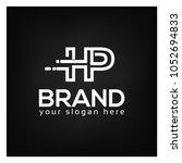 letter h and p on black... | Shutterstock .eps vector #1052694833