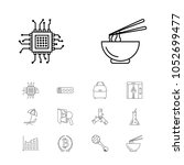 package icons set with lab ...