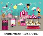 fun fair vector illustration | Shutterstock .eps vector #105270107