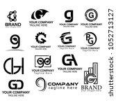 logo collections g. logo design ... | Shutterstock .eps vector #1052713127