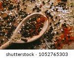 black and white pepper peas ... | Shutterstock . vector #1052765303