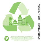 the concept of ecological city... | Shutterstock .eps vector #1052786057