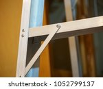close up detail of the rivets... | Shutterstock . vector #1052799137