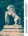 Lion Monument In Wilanow Park...