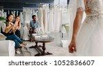 women taking photographs of a... | Shutterstock . vector #1052836607