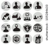 set social media icons   vector ... | Shutterstock .eps vector #105284633