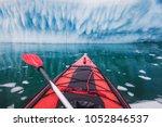 kayaking in antarctica  red...   Shutterstock . vector #1052846537