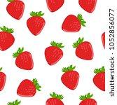 ripe strawberry  seamless... | Shutterstock .eps vector #1052856077