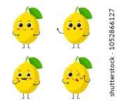 vector illustration flat lemon...   Shutterstock .eps vector #1052866127