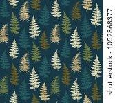 fern frond herbs  tropical... | Shutterstock .eps vector #1052868377