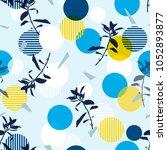 vector botanic silhouette... | Shutterstock .eps vector #1052893877
