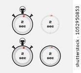 timer 2 seconds on gray... | Shutterstock .eps vector #1052950853