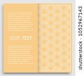 card  invitation  cover... | Shutterstock .eps vector #1052967143