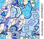 tracery seamless pattern.... | Shutterstock .eps vector #1052968037