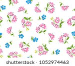 beautiful colorful floral print ... | Shutterstock .eps vector #1052974463