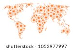 global map concept created of... | Shutterstock .eps vector #1052977997