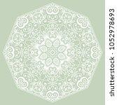mandala isolated design element ... | Shutterstock .eps vector #1052978693