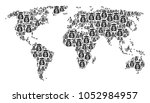 geographic atlas collage done... | Shutterstock .eps vector #1052984957