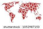 geographic atlas concept... | Shutterstock .eps vector #1052987153
