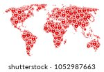 continent atlas collage... | Shutterstock .eps vector #1052987663