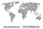 global geography map collage... | Shutterstock .eps vector #1052988233