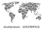 geographic map collage... | Shutterstock .eps vector #1052989523