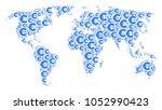 worldwide map pattern created... | Shutterstock .eps vector #1052990423