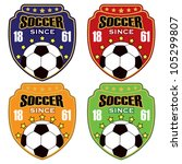 vector soccer badge   vector... | Shutterstock .eps vector #105299807