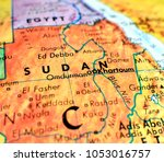 sudan africa isolated focus... | Shutterstock . vector #1053016757
