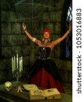 Voodoo Queen In Trance In Fron...