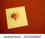 new idea in sticky note on... | Shutterstock . vector #1053028487