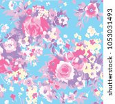 abstract floral pattern in... | Shutterstock .eps vector #1053031493