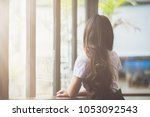 soft focus the girl in the... | Shutterstock . vector #1053092543