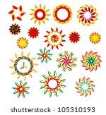 sample form  frame flowers   Shutterstock .eps vector #105310193