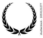 heraldic wreath icon. simple...   Shutterstock .eps vector #1053121277