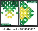 annual report cover design | Shutterstock .eps vector #1053130007