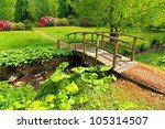 Old Wooden Bridge In A...