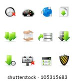 file sharing icon set.... | Shutterstock .eps vector #105315683