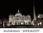 vatican city st peters basilica ... | Shutterstock . vector #1053162257