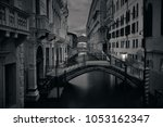 venice canal view at night with ... | Shutterstock . vector #1053162347