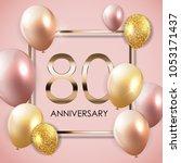 template 90 years anniversary... | Shutterstock .eps vector #1053171437