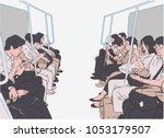 illustration of people using... | Shutterstock .eps vector #1053179507