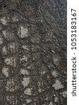 Small photo of Wet asphalt. Wet asphalt background. Asphalt texture and background. Scabrous asphalt.