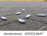 empty nitrous oxide bulbs lying ...   Shutterstock . vector #1053213647