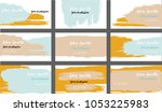 trendy business cards vector...