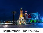 izmir clock tower  turkish ... | Shutterstock . vector #1053238967